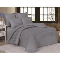 Комплект постельного белья сатин однотонный дымчато серый