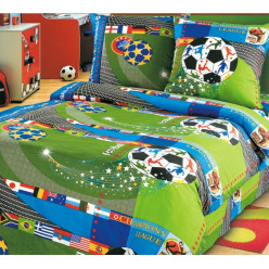 Детское постельное белье бязь зеленое футбол