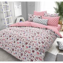 Детское постельное белье поплин двустороннее белое сладкоежка