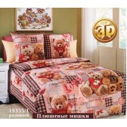 Детское постельное белье бязь бежевое плюшевый мишка