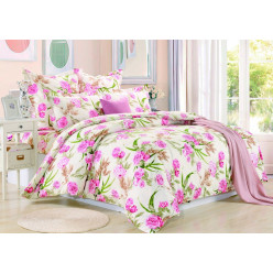 1.5 спальный комплект постельного белья сатин желтый