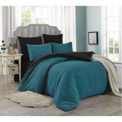 2 спальное постельное белье однотонное двустороннее бирюзовое