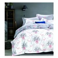 2 спальный комплект постельного белья премиум сатин двусторонний белый