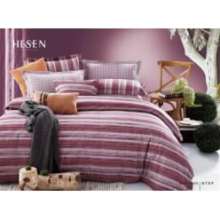 1.5 спальный комплект постельного белья бордо с полосками