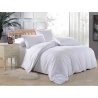 1.5 спальное постельное белье однотонное белое