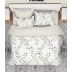 1.5 спальный комплект постельного белья премиум сатин двусторонний кремовый