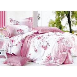 1.5 спальный комплект постельного белья розовый с цветами
