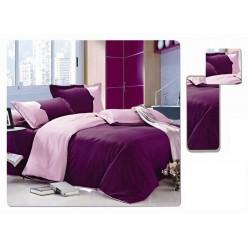 Евро двустороннее постельное белье однотонное фиолетовое