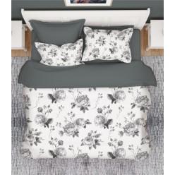 1.5 спальный комплект постельного белья премиум сатин двусторонний белый