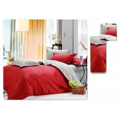 1.5 спальное постельное белье однотонное двустороннее красное