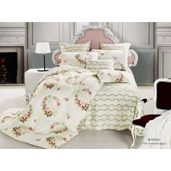 1.5 спальный комплект постельного белья бежевый с венками