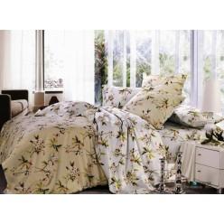 1.5 спальный комплект постельного белья сатин бежевый