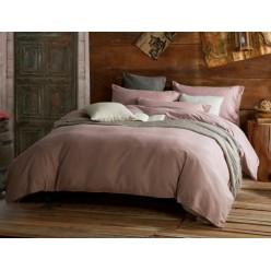 1.5 спальное постельное белье однотонное пудровое