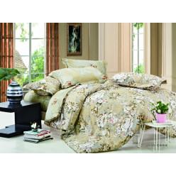 1.5 спальный комплект постельного белья сатин бледно-салатовый