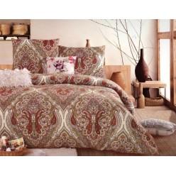 1.5 спальный комплект постельного белья бежевый с восточным узором