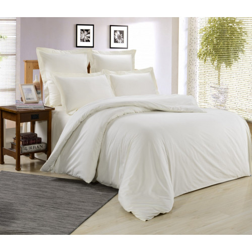 1.5 спальный комплект постельного белья сатин белый