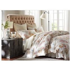 1.5 спальный комплект постельного белья сатин бежевый с кораллами