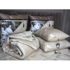 Под.Luxury Antistress Collection Swans Down (капучино) 50х70