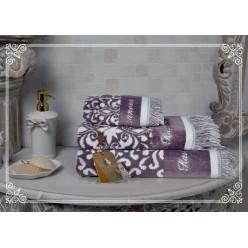 Комплект полотенец Undina (фиалка) 30х50см(3)