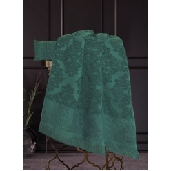 Комплект полотенец Барокко (изумруд) 70х140см(1),50х90см(1)