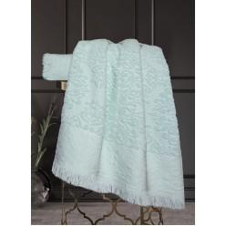 Комплект полотенец Барокко Жаккардовый хлопок (мята) 70х140см(1),50х90см(1)