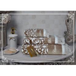 Комплект полотенец Undina (бежевый) 30х50см(3)