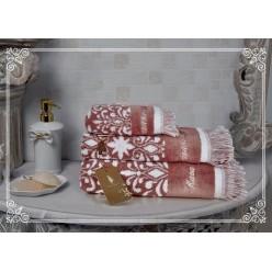 Комплект полотенец Undina (розовая пудра) 30х50см(3)