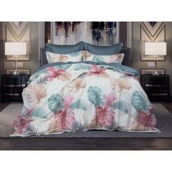 1,5 спальное постельное белье из премиум сатина Монтель (мави)
