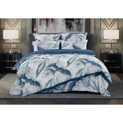 1,5- спальное постельное белье из сатина Гильберт (деним)