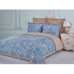 Евро постельное белье из сатина Марсо с одеялом