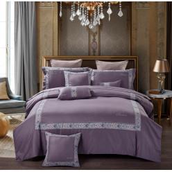 Евро постельное белье элит-сатин Because лиловое