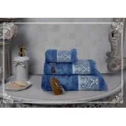 К-т полотенец Donna (синий) 70х140см(1), 50х90см(1)