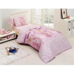 Детское постельное белье из креафорса розовое SWENA