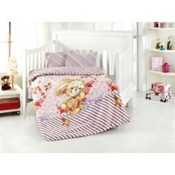 Детское постельное белье для новорожденных PAMUK с плюшевым зайкой