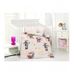 Детское постельное белье для новорожденных KUZUCUK с веселыми овечками