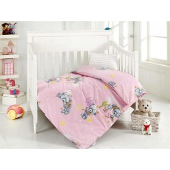 Детское постельное белье для новорожденных YUMAK с плюшевым мишкой
