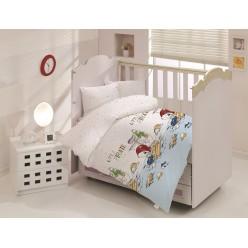 Детское постельное белье для новорожденных LITTLE PIRATE белое с маленьким пиратом