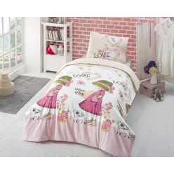 Детское постельное белье из креафорса розовое NICE DAY