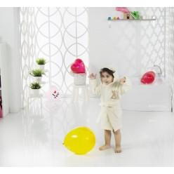 Халат детский с велюром с капюшоном SNOP для детей 4-5 Лет