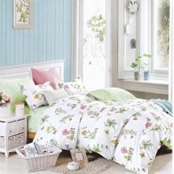 Турецкое постельное белье детское двустороннее сатин DELUX JULEE белое