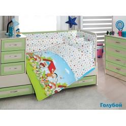 Детское постельное белье для новорожденных HAPPY KIDS с веселыми детишками