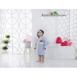Халат детский с велюром с капюшоном SNOP 2-3 Лет