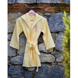 Халат бамбук подростковый с вышивкой YOUNG  Желтый