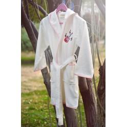 Халат бамбук подростковый с вышивкой YOUNG Крем для девочки