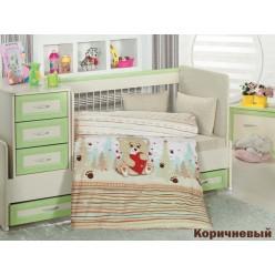 Детское постельное белье для новорожденных AYICIK с медвежонком в лесу