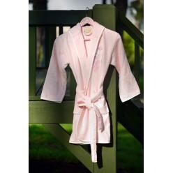 Халат бамбук подростковый с вышивкой YOUNG  Розовый