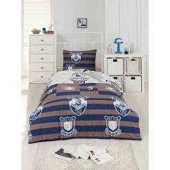 Подростковое постельное белье из ранфорса в широкую полоску VINTE