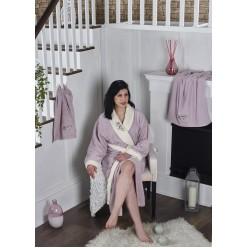 Подарочный набор женский халат махровый с полотенцами ADRA S/M