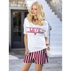 Женская пижама шорты и футболка из вискозы