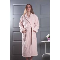 Женский махровый халат MORA пудра 2 XL